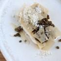 Milhojas de chantilly, Caviar del Tíbet y parimigiano reggiano